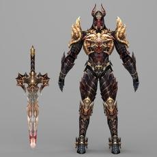 Fantasy Character Hell King Hipesh 3D Model