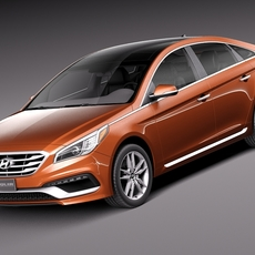 Hyundai Sonata 2015 3D Model