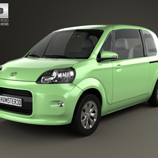 Toyota Porte 3-door hatchback 2012 3D Model