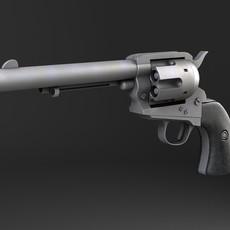 Colt Peacemaker revolver 3D Model