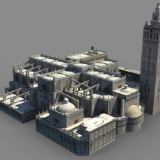 Spanish Cathedral FOR GAMES 3D Model