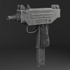 Uzi Pistol Submachine Gun 3D Model