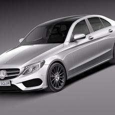 Mercedes-Benz C-Class W205 2015 sedan 3D Model