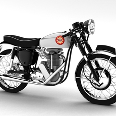 BSA Gold Star 1960 3D Model