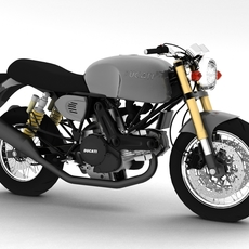 Ducati SportClassic GT1000 2010 3D Model