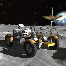 Apollo Lunar Rover 3D Model