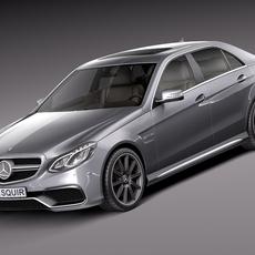 Mercedes-Benz E63 AMG Sedan 2014 3D Model