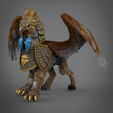 Fantasy Eagle 3D Model