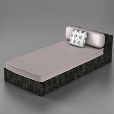 Wicker chaise 3D Model