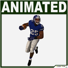 Black American Football Player Hi-poly - Rigged for 3ds max 3D Model