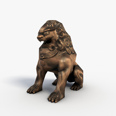 Chinese lion guardian 3D Model