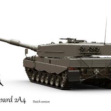 Leopard 2A4 Dutch version 3D Model