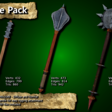 Medieval Mace Pack 3D Model