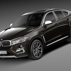 BMW X6 2015 3D Model