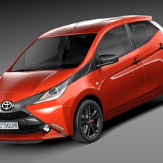 Toyota Aygo 2015 3D Model
