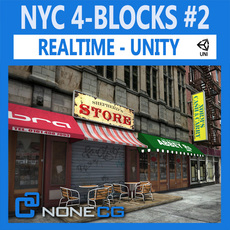 NYC 4 Blocks Unity Set 2 3D Model