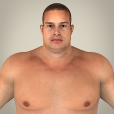 Realistic Fat Man 3D Model