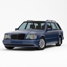 Mercedes-Benz W124 / S124 E-Class Touring 1993-95 3D Model