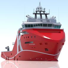 95 m. AHTS Supply Vessel 3D Model