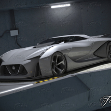 Nissan 2020 + garage 3D Model