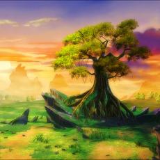 Fantasy Valley Landscape 3D Model