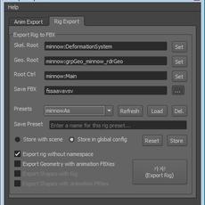 FBX Split Exporter for Maya 1.0.0 (maya script)