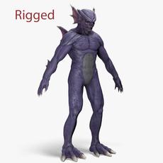 Piranha Monster - Rigged 3D Model