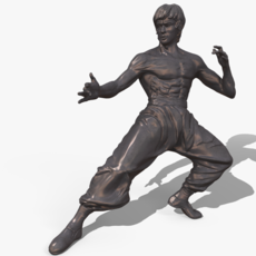Bruce Lee Statue 3D Model