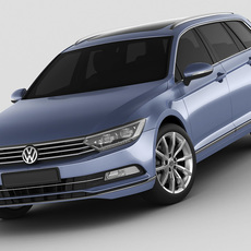 VW Passat Variant 2015 3D Model