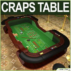Table Casino - Craps Table 3D Model