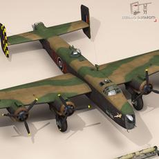 Handley page halifax MK3 RAF 3D Model