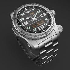 Breitling Emergency II Mens Watch 3D Model