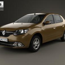 Renault Logan sedan (Brazil) 2013 3D Model