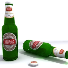 Beer Bottle 3D 3D Model