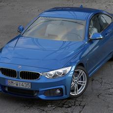 BMW 4 Series Coupe M Sport 2014 3D Model