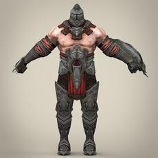 Fantasy Warrior Gunba 3D Model