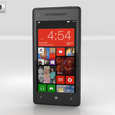HTC Windows Phone 8X Graphite Black 3D Model