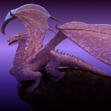 Winged Dragon 01 3D Model