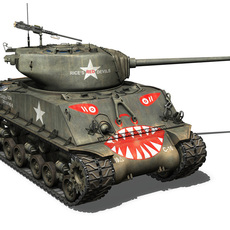 M4A3E8 Sherman - Easy Eight - Rice's Red Devils 3D Model