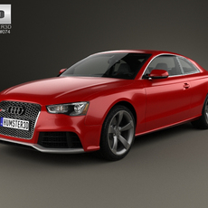 Audi RS5 coupe with HQ interior 2012 3D Model