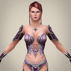 Fantasy Girl Princess Tikuri 3D Model