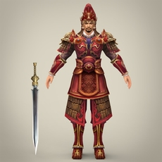 Ancient Warrior Khemu 3D Model