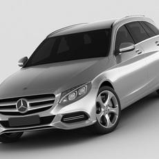 Mercedes C Class estate 2014 avantgarde 3D Model