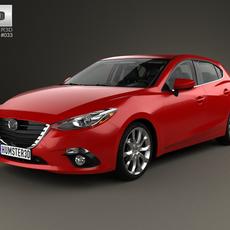Mazda 3 hatchback with HQ interior 2014 3D Model