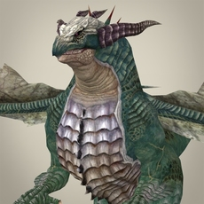 Fantasy Wild Dragon 3D Model