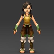 Cartoon Character Gulli 3D Model