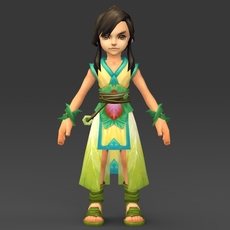 Cartoon Character Khuli 3D Model
