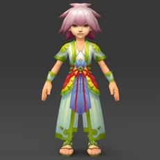 Cartoon Character Muli 3D Model