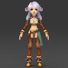 Cartoon Character Thali 3D Model