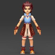 Cartoon Character Tuli 3D Model